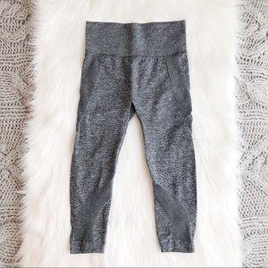 High waisted charcoal mesh Capri leggings